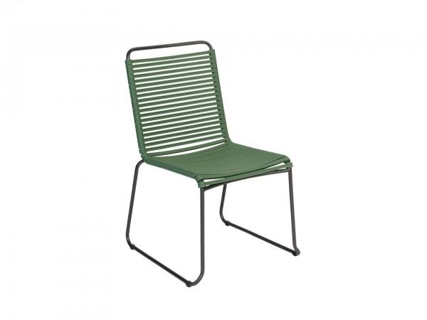 Exotan Stuhl Ripp Grün ohne Armlehne
