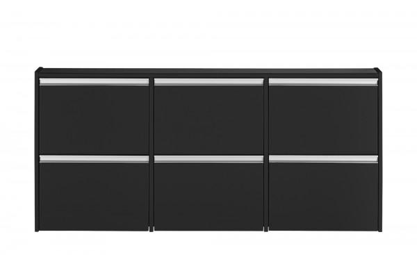 Steens Schuhschrank Skyline 194 in schwarz/braun