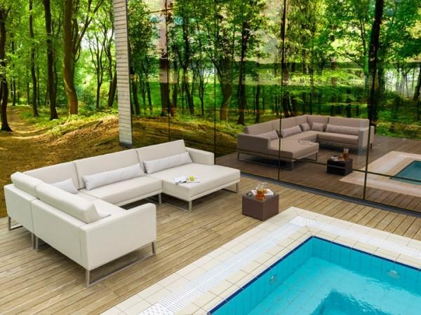 Lounge Bari für den Garten Set C 17-teilig Silvertex Livingruhm