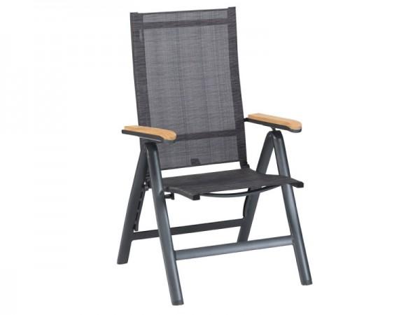 Exotan Hochlehner Memphis Gartenstuhl Alu & Textilene grau