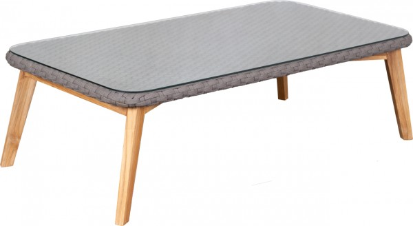 deVries Webster Loungetisch 125x65cm 13 mm rope dark grey