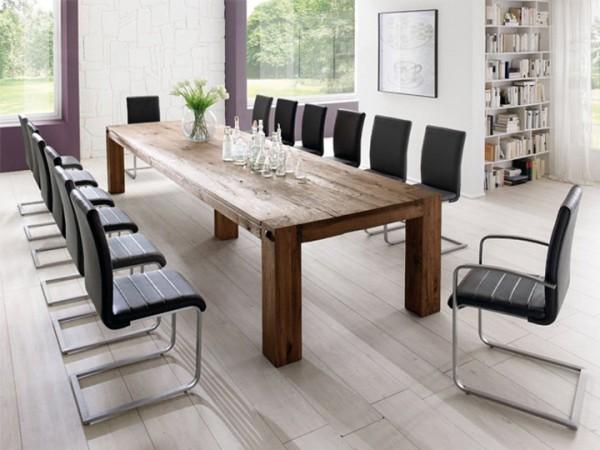 MCA furniture Leeds Esstisch Eiche massiv 400x120 cm