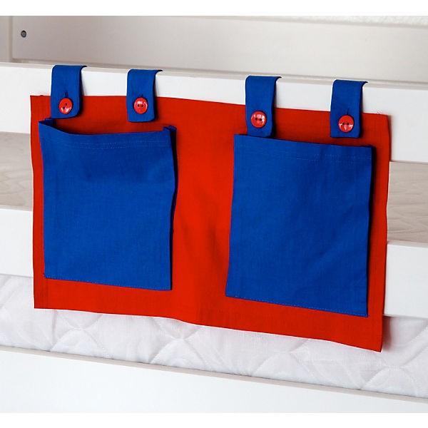 Relita Stofftaschen für Hoch- und Etagenbetten blau/rot