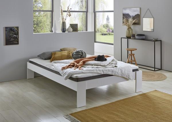 Relita Futonbett LIAN weiß ohne Kopfteil und Matratze inkl. Rollrost 140x200cm