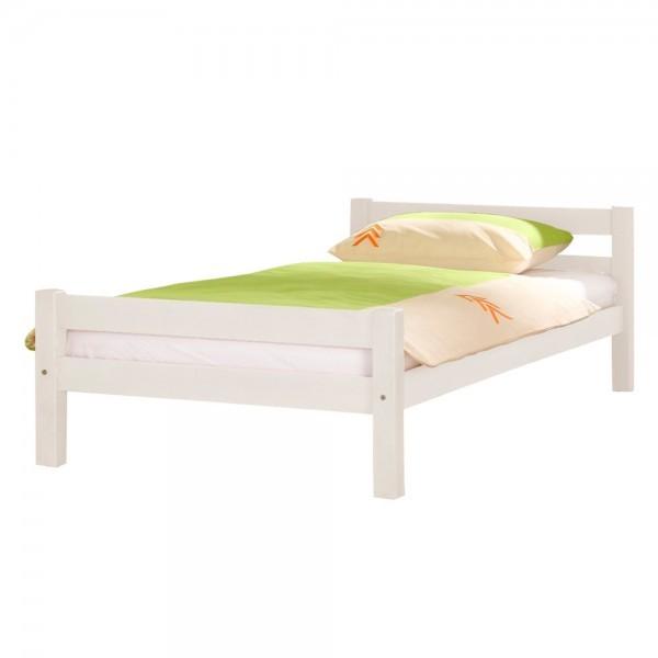 Bett Helga 140 x 200cm Doppelbett Buche massiv Weiß