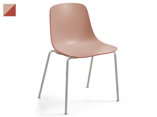 Infiniti Stuhl Pure Loop Binuance 4er Set stapelbar Gestell grau lackiert