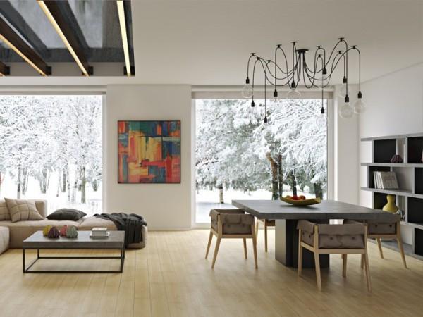 Temahome Dusk Esstisch Beton & Schwarz 150x150cm