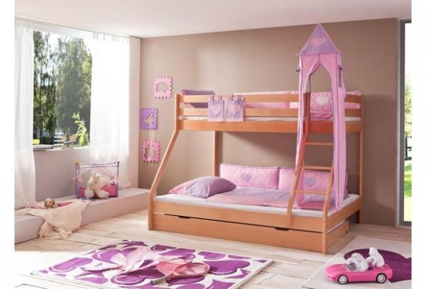Relita Turm-Set groß lila/rosa-Herz