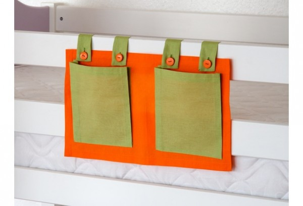 Relita Stofftaschen für Hoch- und Etagenbetten grün/orange