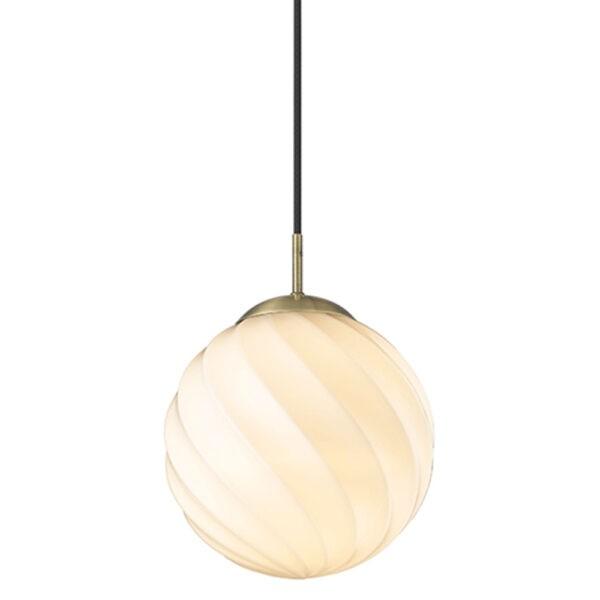 Halo Design Pendelleuchte Twist Ball Ø25 cm Antik Messing