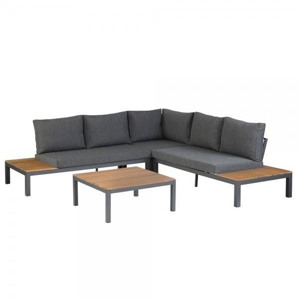 Exotan Design Gartenlounge / Lounge Set La Vida inkl. Kissen - Grau
