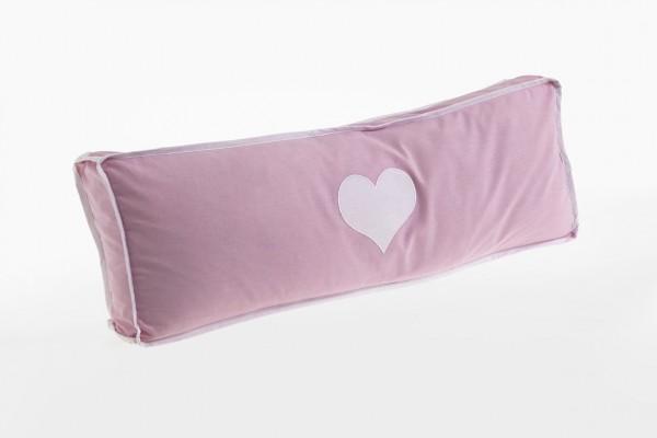 Relita Seitenkissen Herz rosa/weiß
