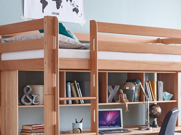 Regalaufsatz Ilka Natur passend zu Schreibtisch für Kinderbett Toli - Campus