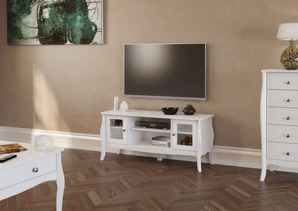 Steens TV-Lowboard Baroque 713 weiss, 52 x 120 cm