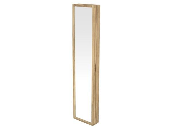 Schlüsselschrank Uno Garderobe mit Spiegel Eiche massiv white wash 20 cm breit