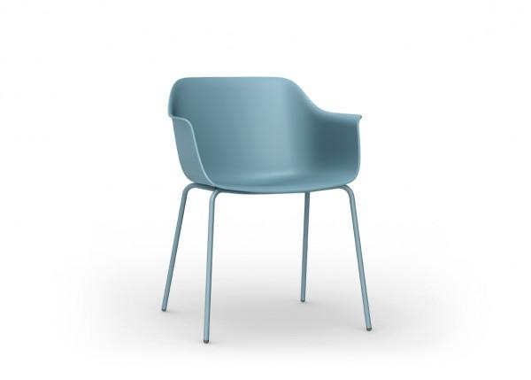 Resol Stuhl Shape 4 Beine blau (2er-Set)
