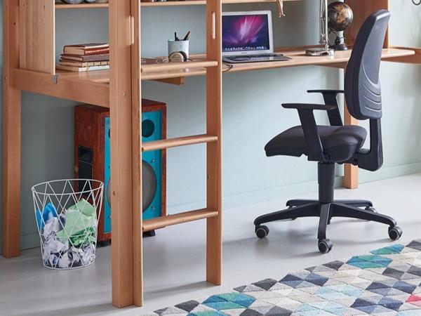 Schreibtisch Ilka 90x200cm für Kinderbett Toli Buche Natur