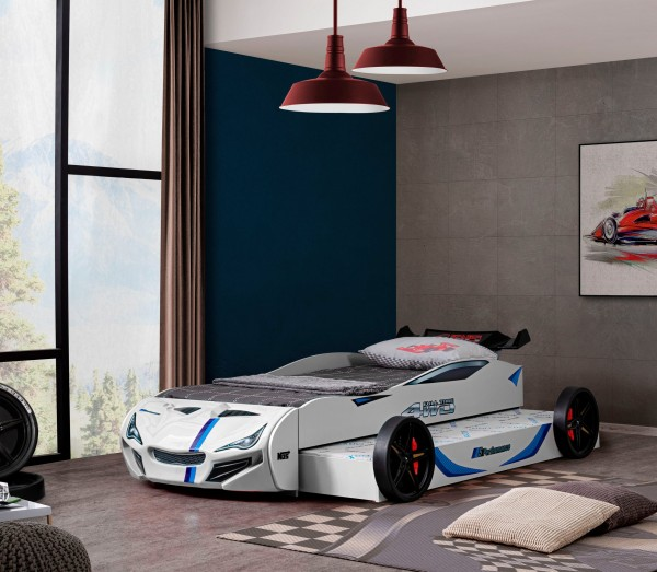 Relita Autobett Superdrift mit Gästebett weiß