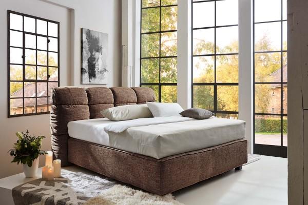 Design Boxspringbett Erin 180x200 cm braun