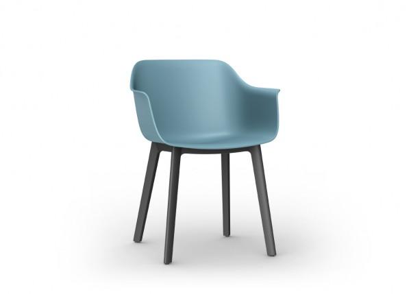 Resol Stuhl Shape Click blau/schwarz (2er-Set)