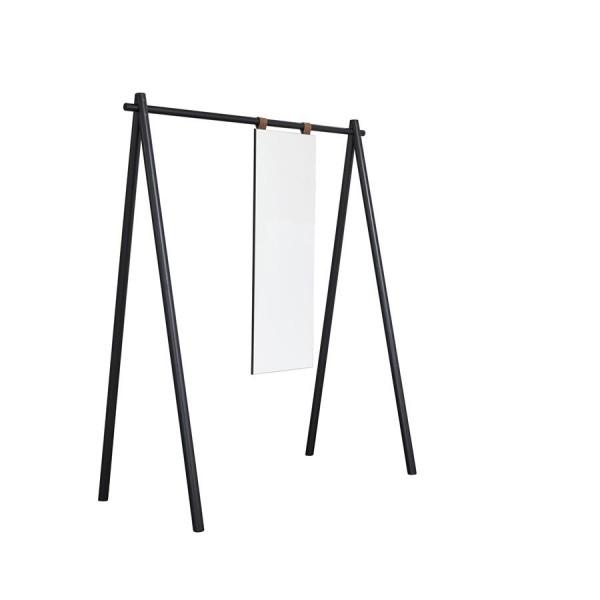 Hongi Standgarderobe mit Spiegel schwarz 150 cm breit