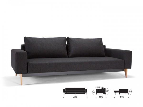 Innovation Idun Schlafsofa 3-Sitzer mit Armlehnen