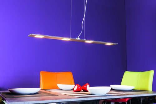 Heitronic LED Pendelleuchte STYLE Aluminium