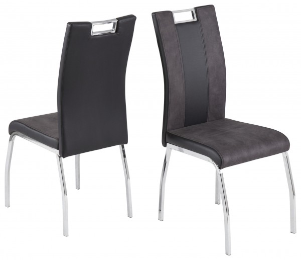 Reality Stuhl Bari 2 grau-schwarz
