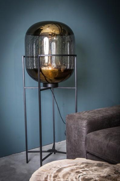 Stehlampe Snakey Glas Gold 126 cm
