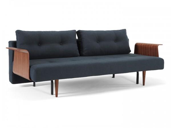 Innovation Recast Plus mit Holz-Armlehnen Schlafsofa 3-Sitzer