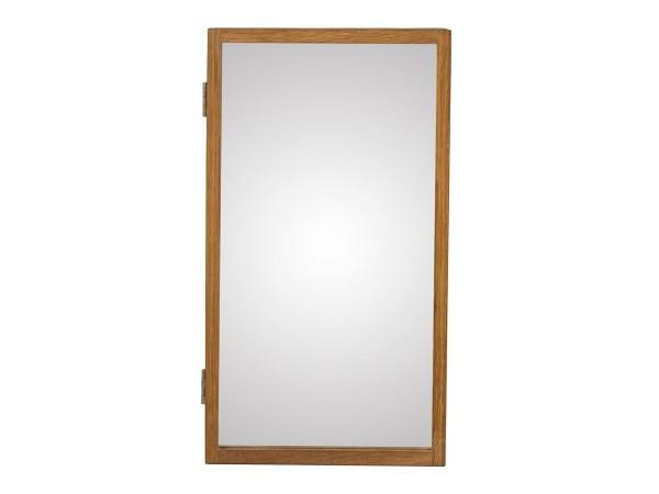 Schlüsselschrank Uno Garderobe mit Spiegel Eiche massiv 25 cm breit