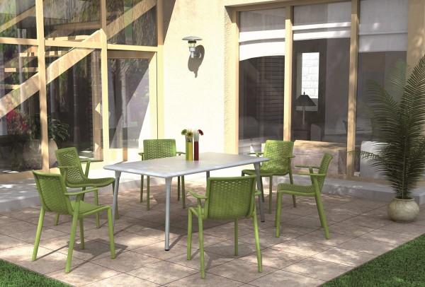 Resol Design Stuhl Netkat mit Armlehne Gartenstuhl Barcelona Dd