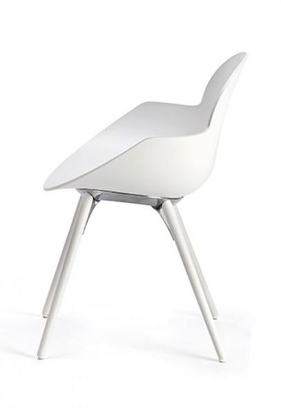 Infiniti Stuhl Cookie Wood Holzgestell Buche Weiß lackiert