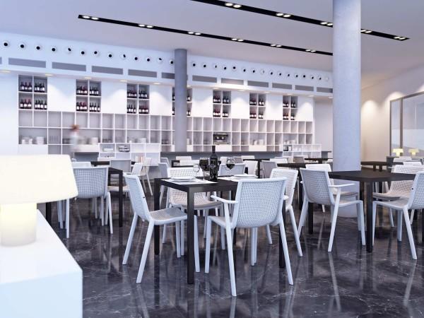 Resol Design Stuhl Beekat mit Armlehne Gartenstuhl Barcelona Dd