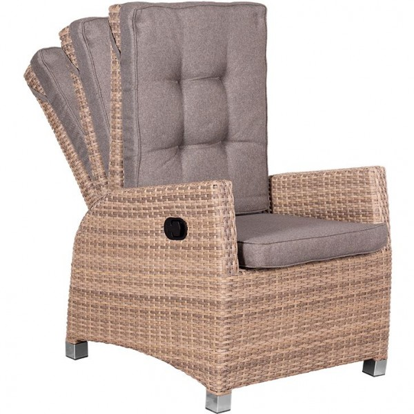 deVries Miraflor Lounge Relaxsessel 8 mm spotted brown
