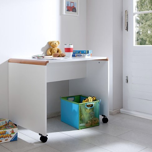 Schreibtisch Sam Kinderschreibtisch Buche massiv natur / weiß