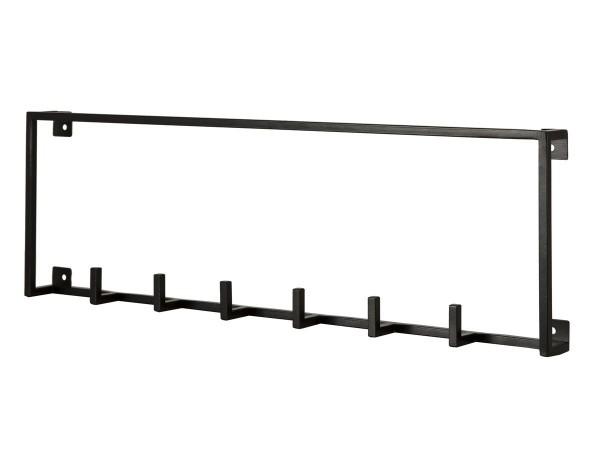 Garderobenhaken Joy Garderobe Metall schwarz 50 cm breit
