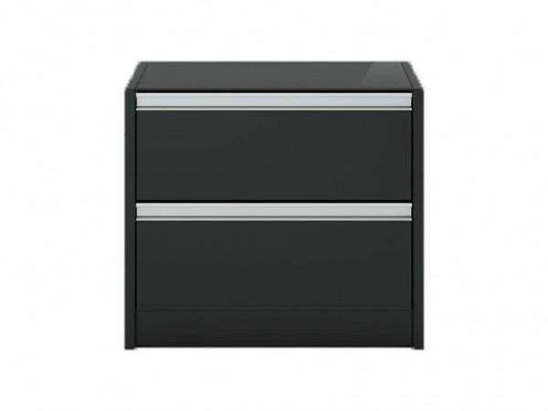 Steens Nachttisch Skyline 002 schwarz/braun