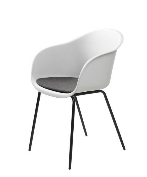 Stuhl Topley Armchair von Livingruhm in Weiß