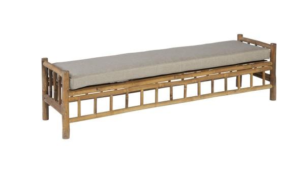 Exotan Garten Sitzbank Bamboo 2-Sitzer Bank Bambus 180cm breit