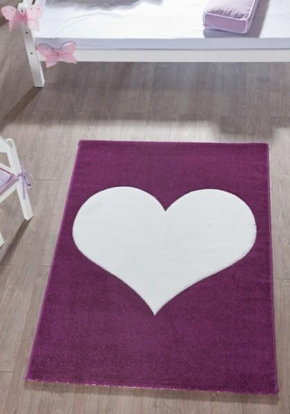 Relita Teppich weiß Herz, 170 x 120cm