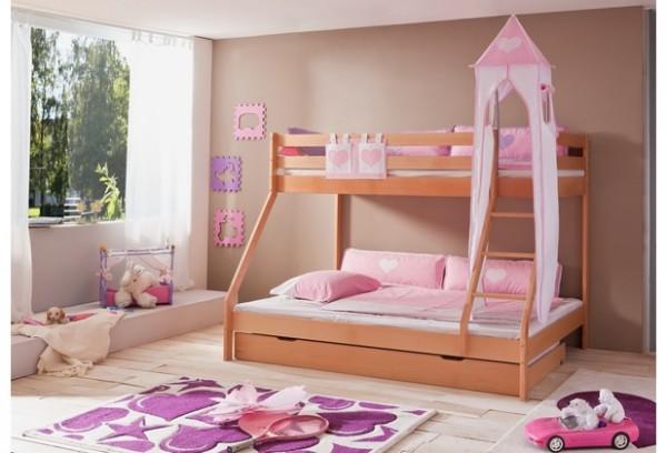 Relita Turm-Set groß rosa/weiß-Herz