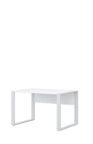 Schreibtisch direct 120 cm Dekor Weiß mit Kufenfuß