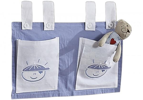 Relita Stofftaschen für Hoch- und Etagenbetten Boy Blau