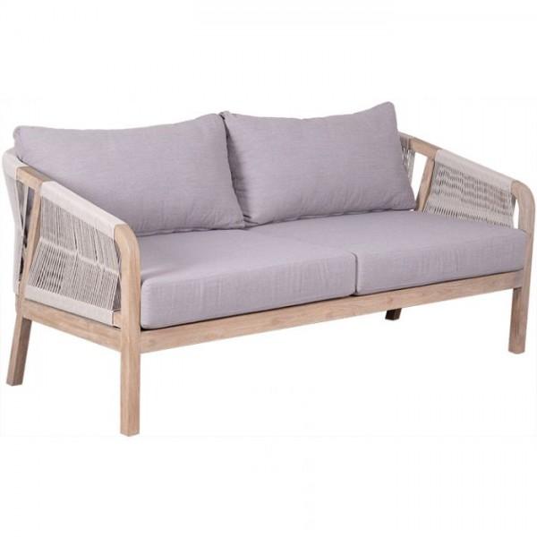 deVries Junto Loungesofa 3-Sitzer 5 mm rope light grey