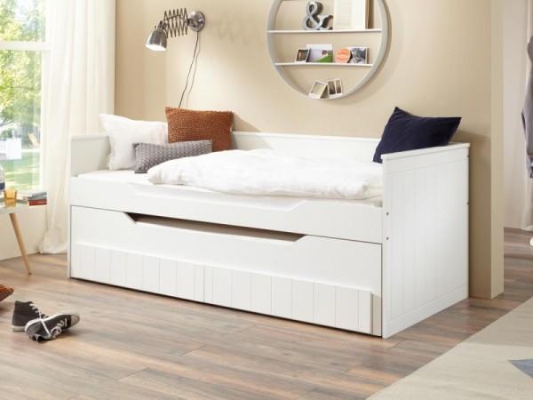 Bett Ronny 90x200 cm Funktionsbett mit 2 Liegeflächen inkl. 2 Rollroste